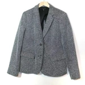Talbots gray herringbone button blazer XL career